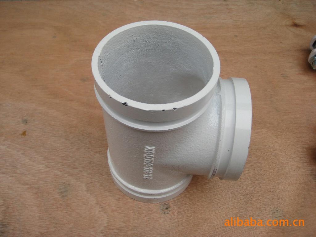 钢塑沟槽三通,喷塑沟槽三通,饮用水三通,钢塑配