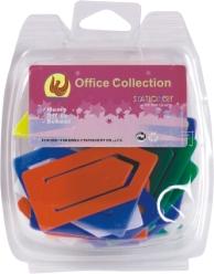 厂家批发 塑料回形针 学生文具 办公文具YW009-YW014