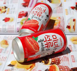 【韩国原装进口美女石榴乐天汁180ml*15瓶/箱美女4古代大图片