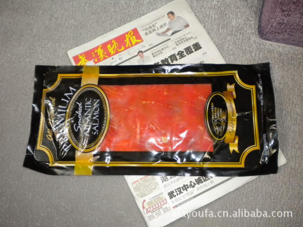 厂家直供烟熏三文鱼,活鱼加工,品质一流