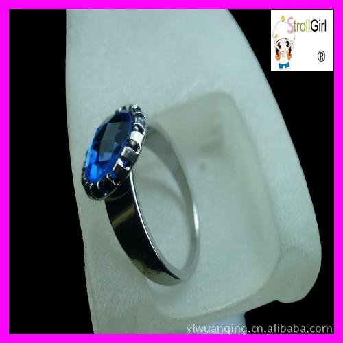 不锈钢戒指厂家.珍珠树脂玻璃石头钛钢异形戒指指环.耳环