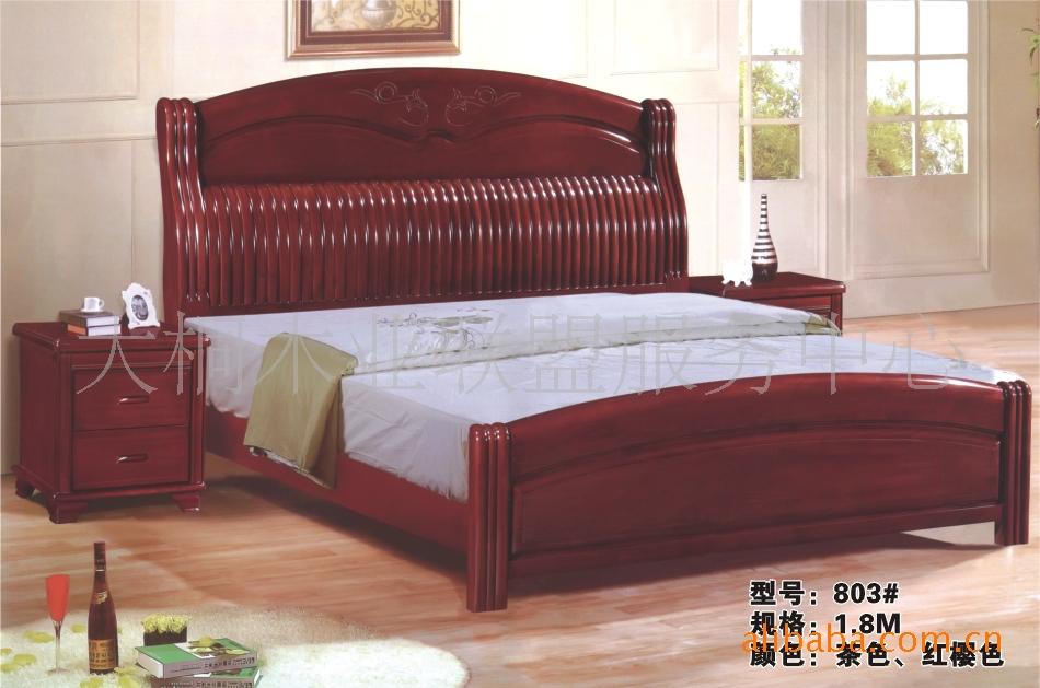 南康价格最低品牌实木家具百元双人床1.5/1.家具特价v价格her图片