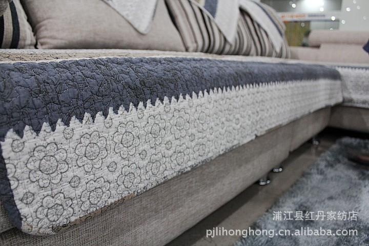 红丹家纺包邮沙发垫 坐垫 布艺 防滑 欧式沙发垫 定做厚 绗缝 -价