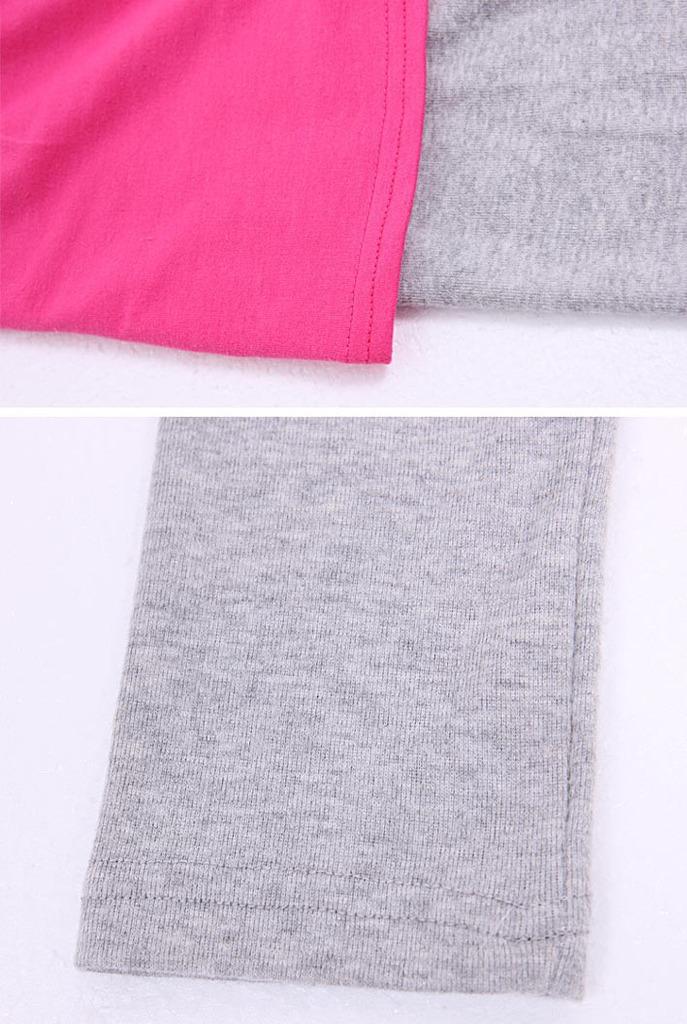 长袖拼接蝙蝠袖裙裤套装批发md02 -价格,厂家,图片,童套装,湖