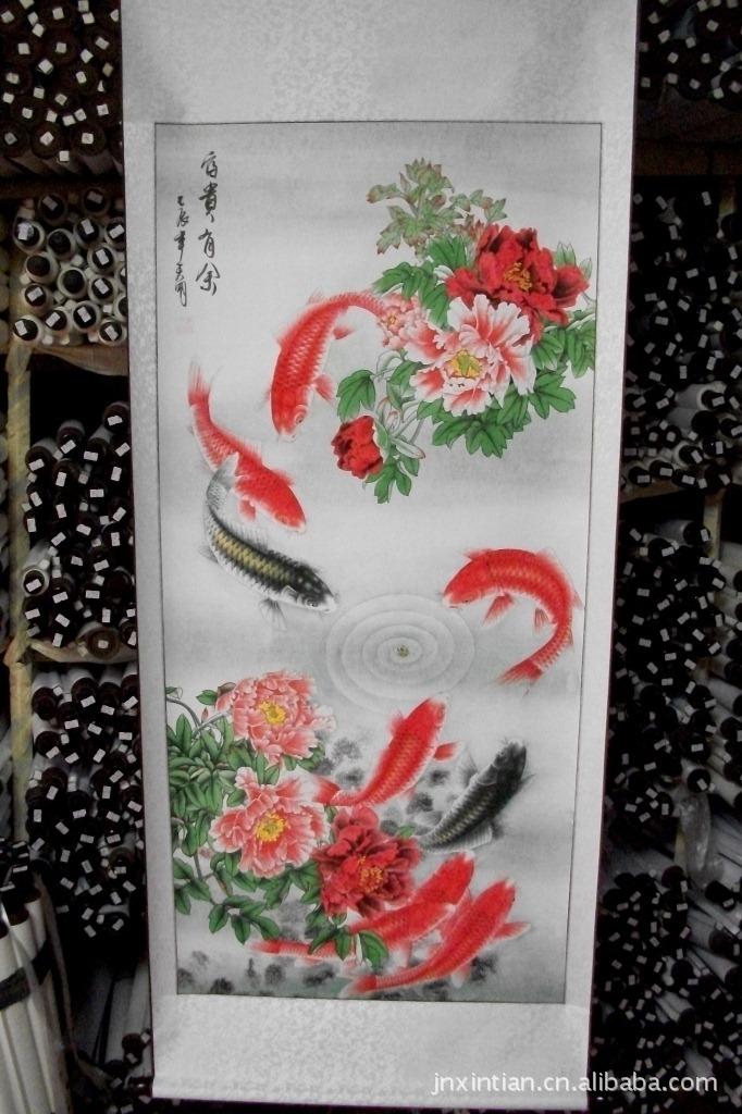 边锦绫   装裱:锦绫精工装裱   书画 国画 字画 花鸟 富贵有