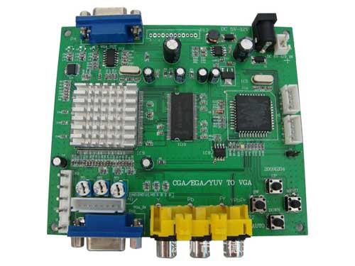 RGBS转VGA,YPBPR转VGA(游戏转换板)扫描板转换