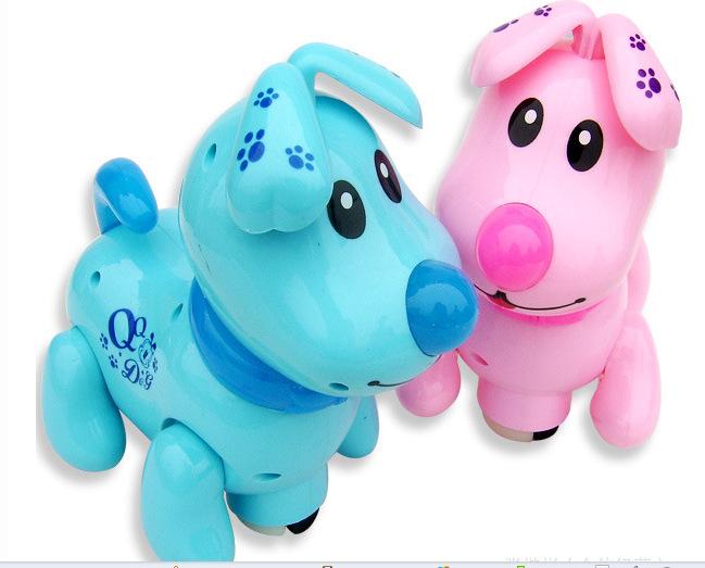 qq 童友/电动玩具音乐小狗 音乐灯光万向QQ狗大号电动狗 儿童玩具