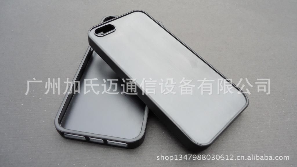 【海绵iphone5苹果保护套贴皮二合一边PC底T抗静电手机图片