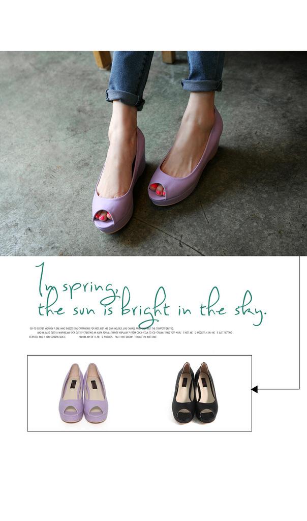 韩国女鞋2012春爆款时尚公主厚底鞋立体坡跟淑女三维图片