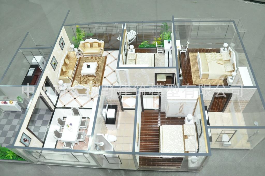 户型模型 别墅模型 剖面模型 欧式户型