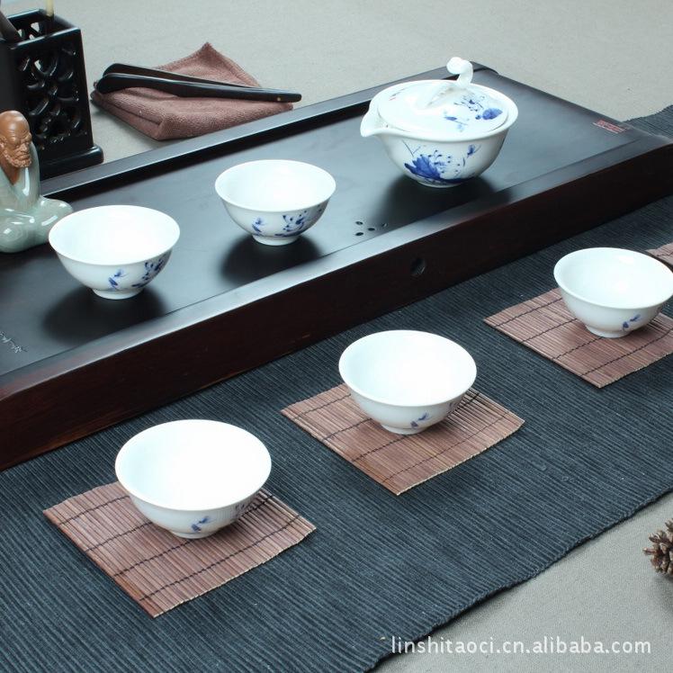 青花瓷茶具套装 手抓壶 陶瓷普洱茶具 茶壶