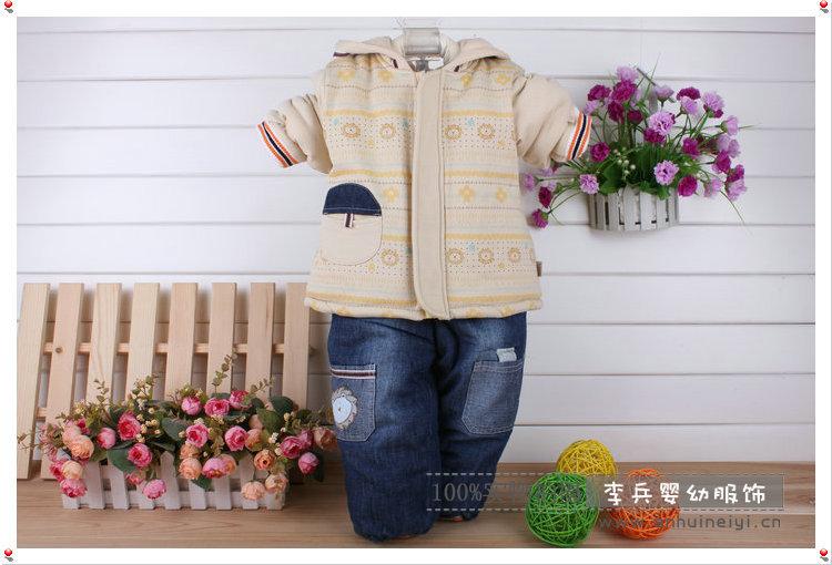 童棉衣 童装 厂家直销 英格贝贝儿童全棉加厚冬季外出服棉衣15484 正图片