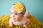 Wholsale blossom yellow polka dot headband hair band hat