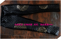 Free Shipping Pants personalized quality gold lace fleece legging faux leather pants thickening goatswool 9332 CQ