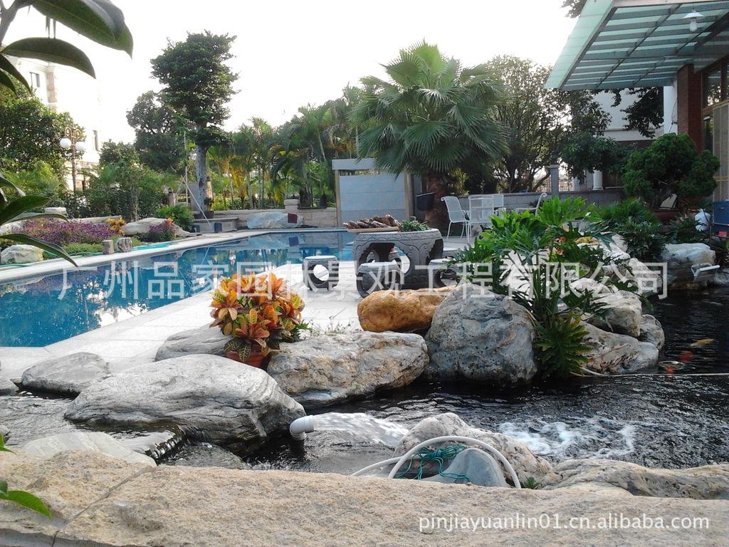 【花园图例、别墅花园等游泳池的规划设计与施消防西门子气体私家v花园图纸图片