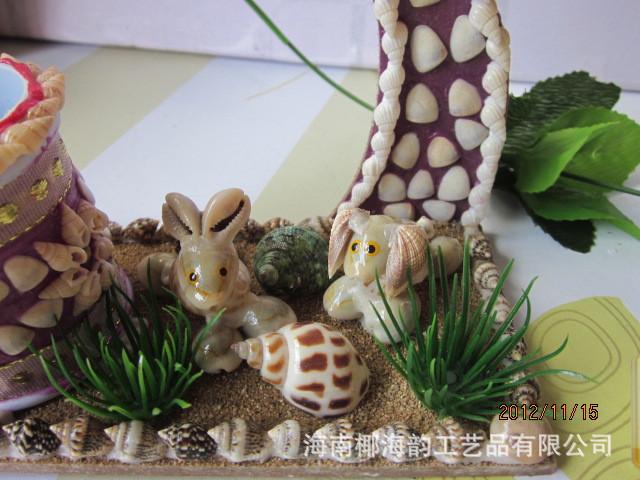 贝壳艺术手工制作的许愿树 海南贝壳艺术摆件 热带风情厂...