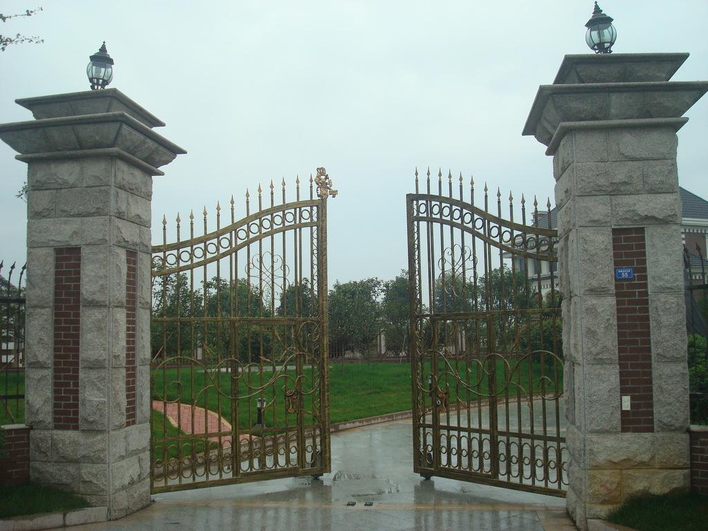 别墅大门 围墙大门 庭院大门专用开门机 铁艺大门 不锈钢大门