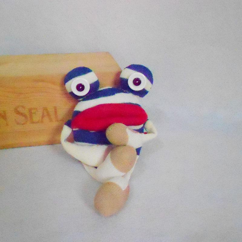 原创手工制作布艺玩偶袜子娃娃diy材料包 手工娃娃母亲节礼物批发图图片
