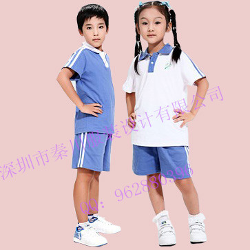 园服夏装 供应优质中小学校服夏装幼儿园园服夏装直销批发定做QCZX