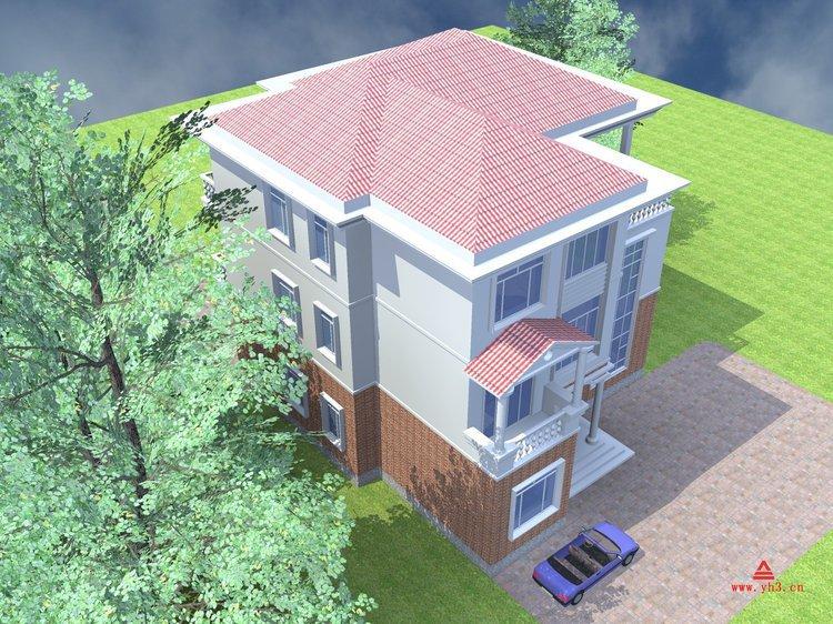 广西农村别墅设计 私人豪宅设计 好看房子效果图 桂林建筑设计图图