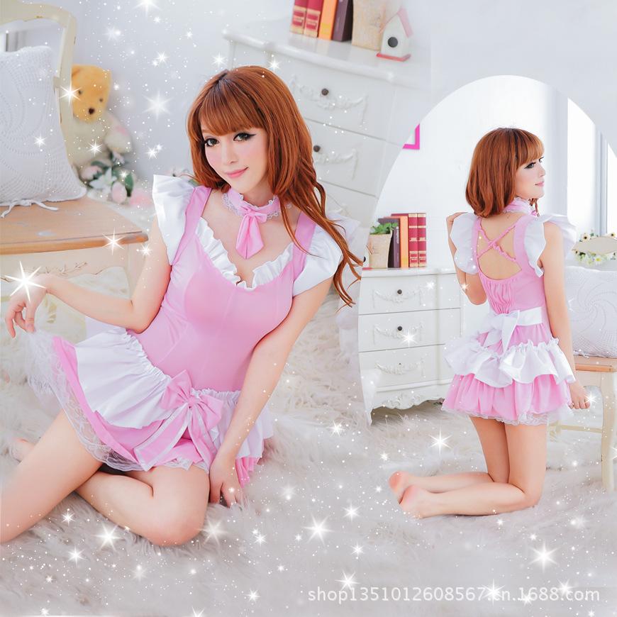 新款情趣内衣制服诱惑粉色清纯洛莉塔女佣装女仆萝莉公主角色扮演