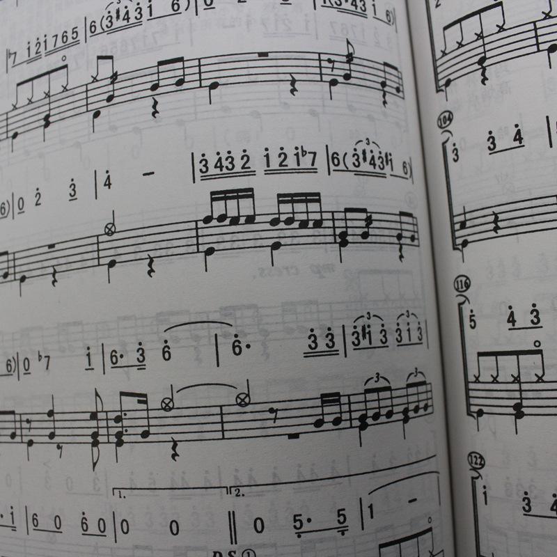 附录二:五线谱与简谱的音符时值对照表   附录一:架子鼓的记谱法