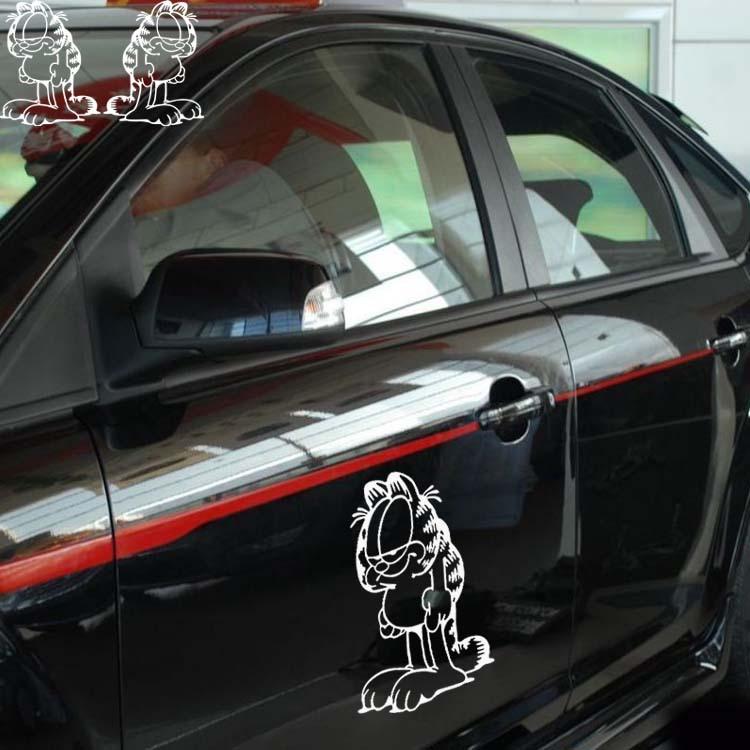 卡通 摩托车 电动车改装一对 车贴 小号 高清图片