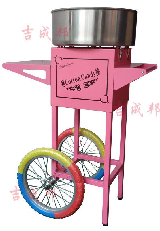 彩色棉花糖機_彩色輪子棉花糖機
