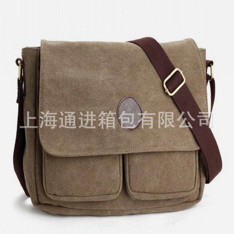 厂家供应生产斜挎帆布包 韩版帆布包 复古帆布包