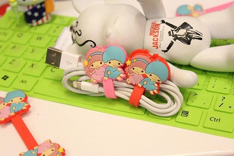 批发多款轻松熊 kitty 耳机绕线器 迪士尼耳机理线器 卡通