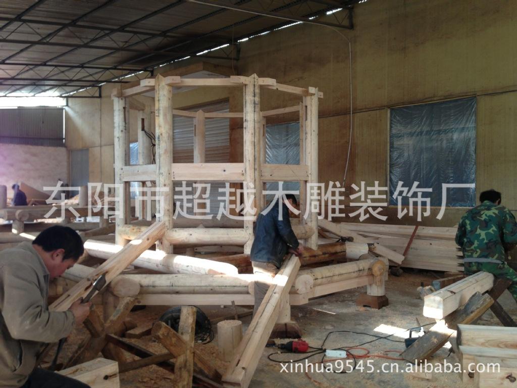 供应木质六角亭 仿古 东阳雕刻