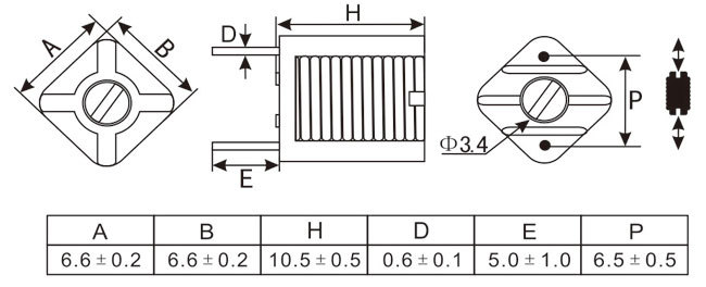 【MD0710U模压线圈,可变线圈,可调电感】MD
