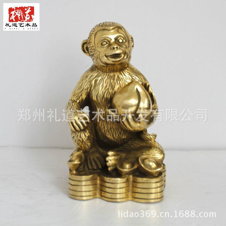 【转运吉祥十二生肖猴 办公摆件十二生肖猴 吉