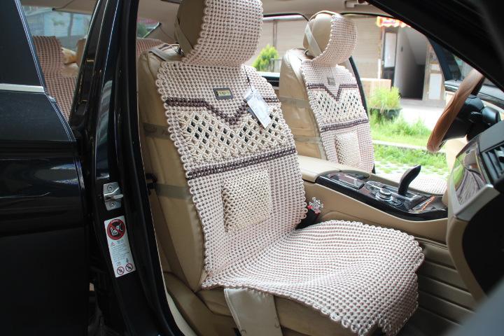 汽车手编座垫 坐垫 SH珠子带腰手编坐垫 轩航汽车用品厂图片,厂家