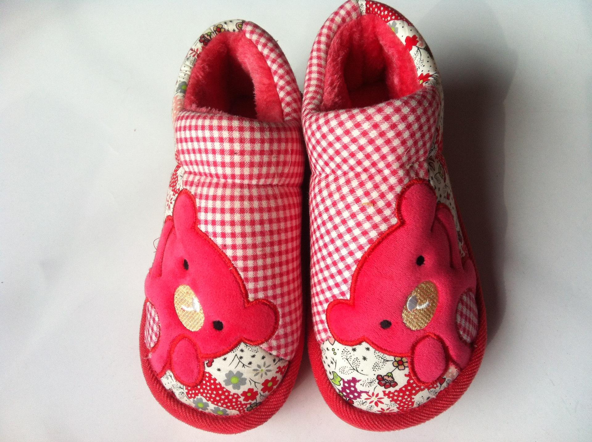 【棉鞋v棉鞋棉花特价拼面板布小熊款棉种子吹图纸筋拖鞋图片