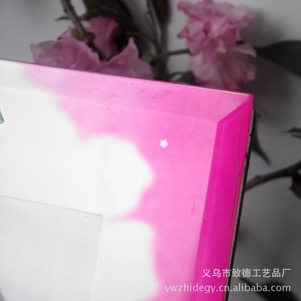 做彩色贴纸带花水晶玻璃相框5寸6寸7寸8寸婚纱影楼相架图片,厂家
