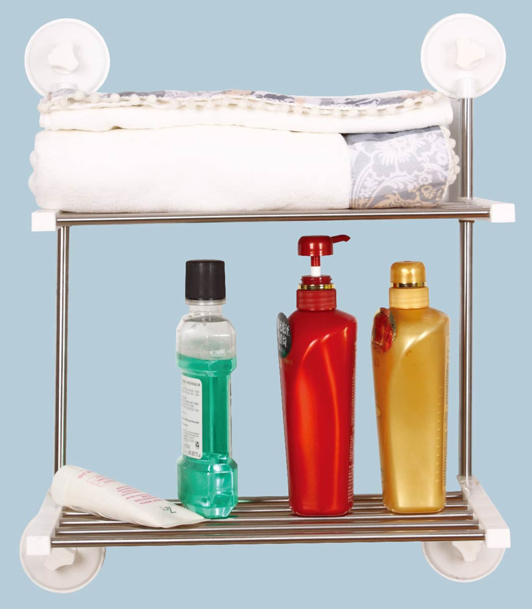 Supply No trace YAFFIL Super suction cup towel rack double folding ...