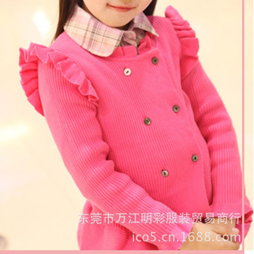 量长期批发童装羊毛衫 冬季加厚儿童毛线衣批
