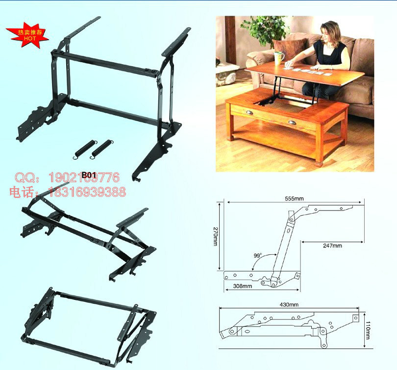 Details About Lift Top Coffee Table Mechanism Laptop Table Part DIY