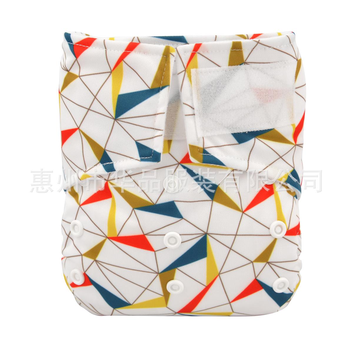 2015新款魔术贴环保布尿裤 可洗可调节PUL透气防漏Velcro Diaper