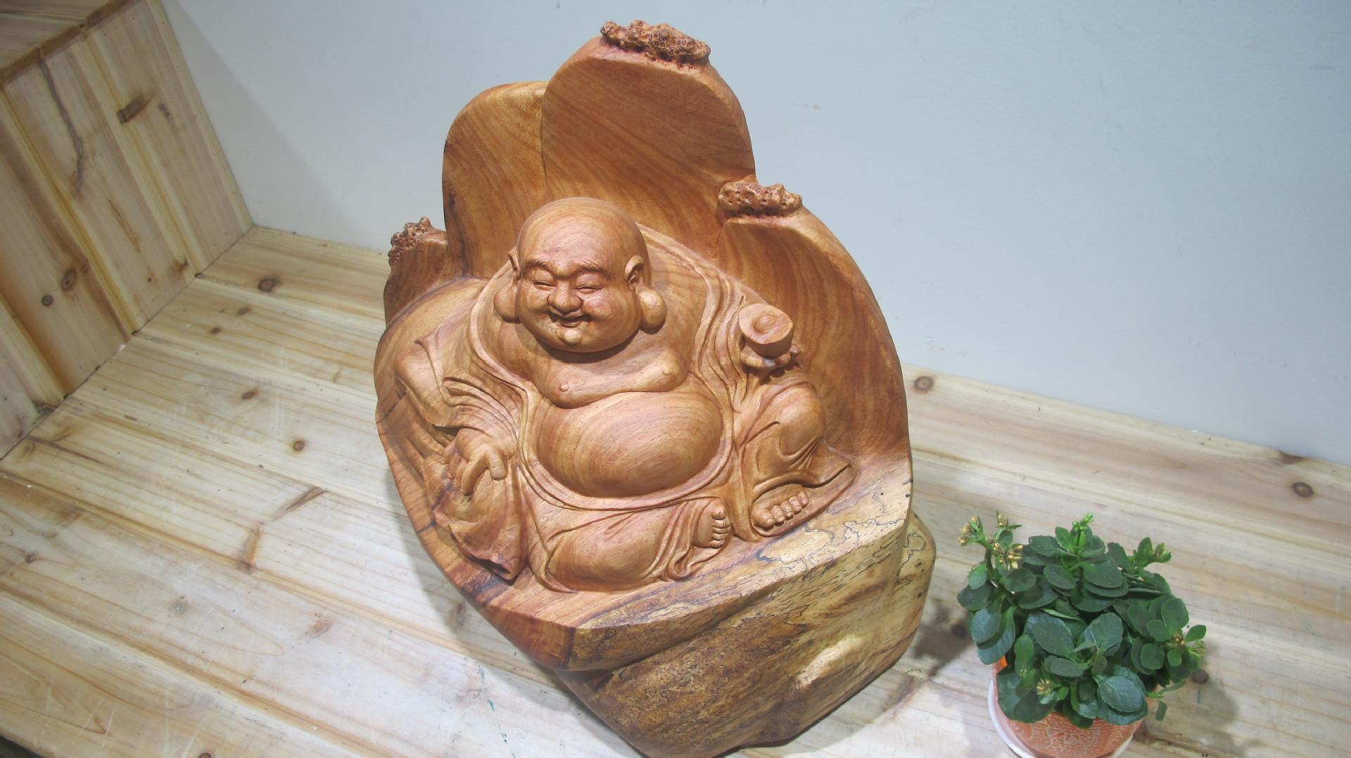 勒佛 家居小件根雕 手工工艺品 现货 -价格,厂家,图片,木质 竹质