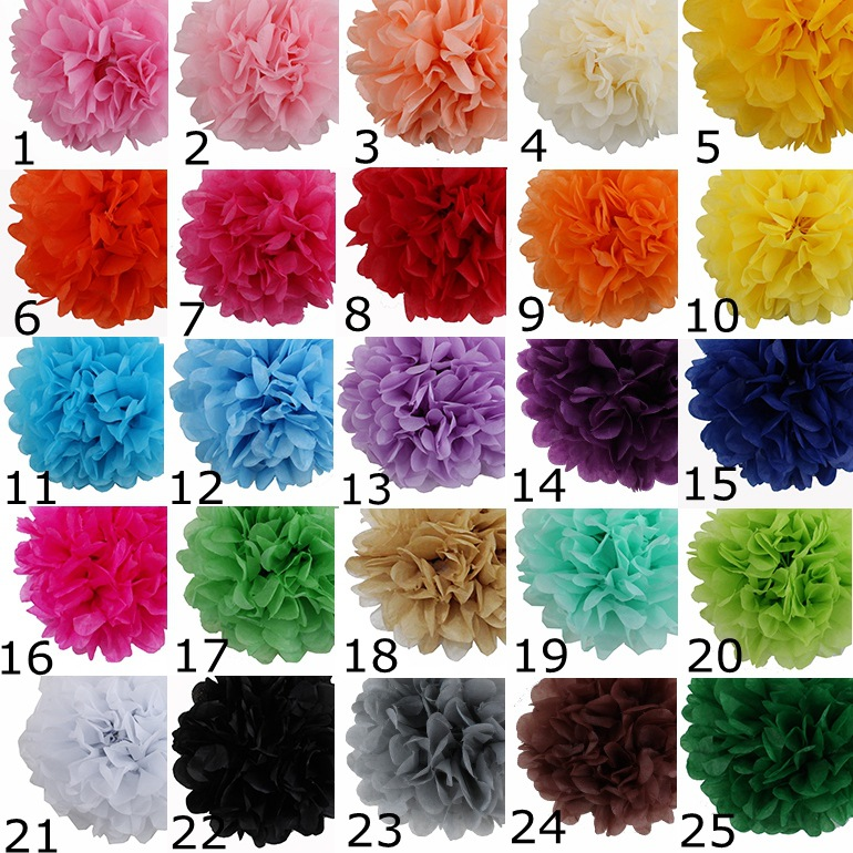 Online cheap wedding decorative 10cm4props supplies tissue paper pom 25 colors mightylinksfo Image collections