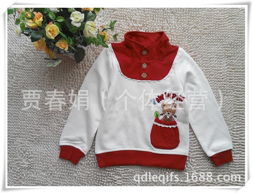 特价韩版童装P家专柜款女童春秋款两色立领卫衣PCMA24T47M