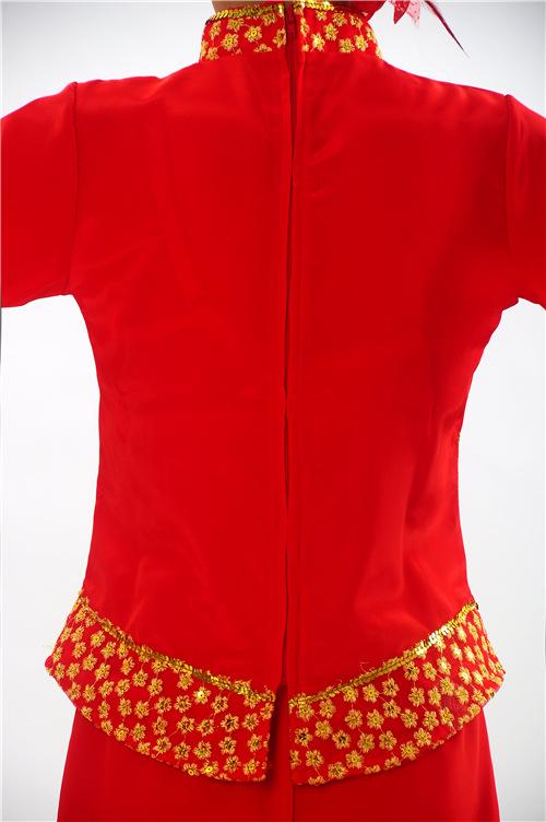 广场舞蹈表演服装民族舞蹈演出服现代舞扇子舞腰鼓舞服装女款特价