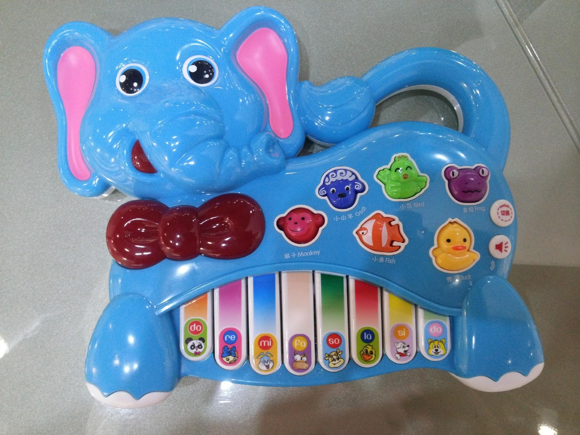 【贝乐康益智电子琴 动物叫声多模式大象琴卡