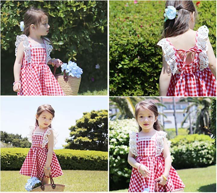 XQ508花边格子裙3