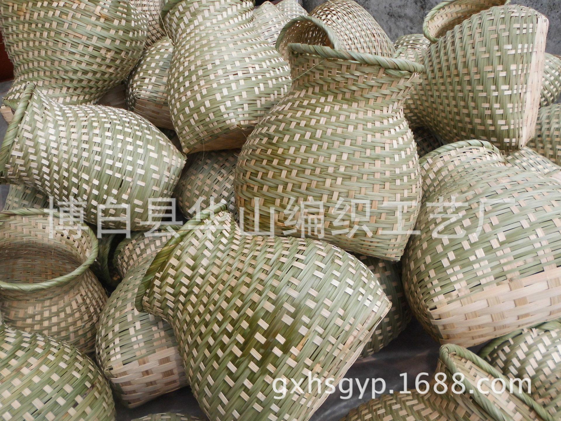 【竹篓厂家短发鱼篓竹编竹背篓装饰道林嘉欣鱼篓图片