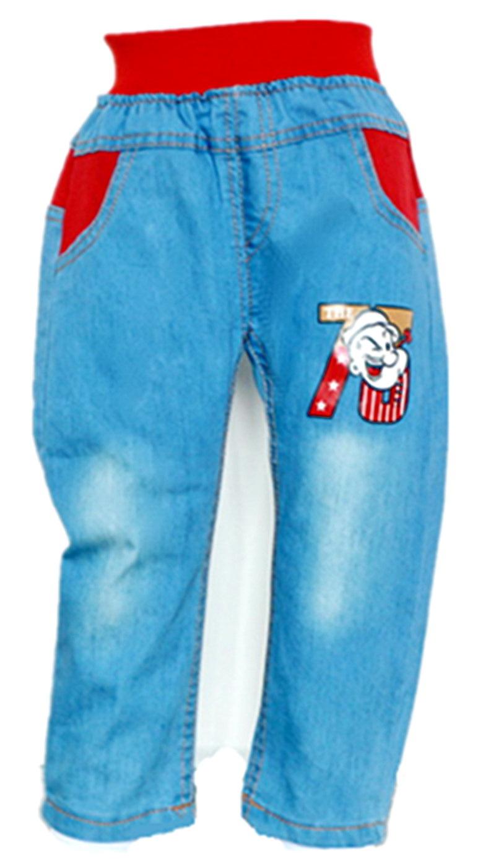 015新款男童牛仔裤 欧美时尚休闲品牌牛仔裤 美国旗大力水手长裤-