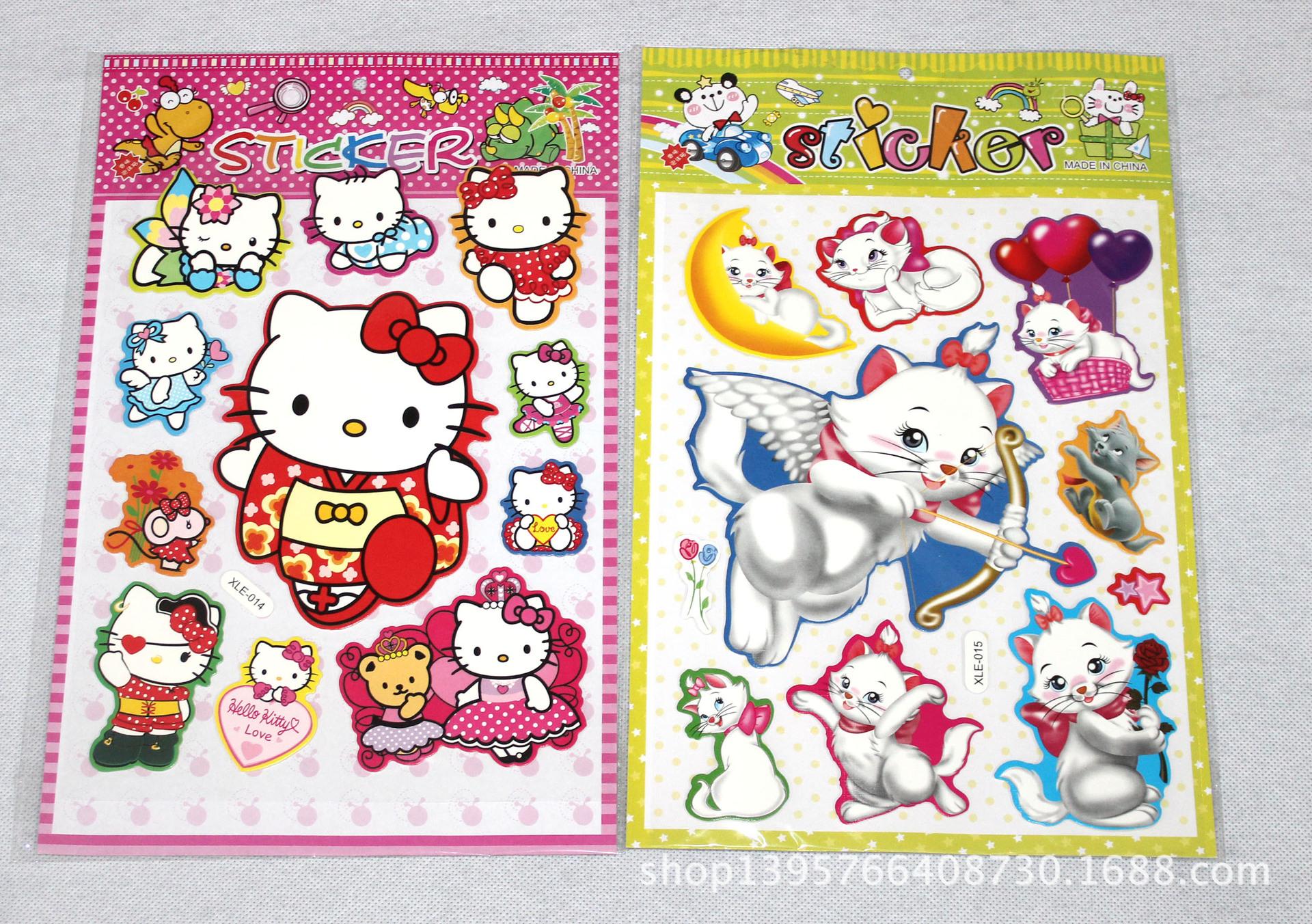 购纸质工艺品 贴纸 儿童贴画 卡通立体泡泡小粘贴 宝宝玩具贴纸 幼儿