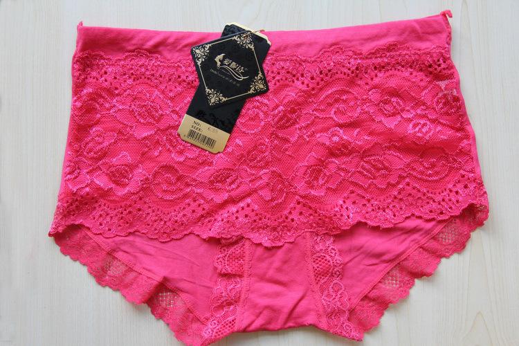 低價銷售 女士莫代爾蕾絲中腰內褲6058